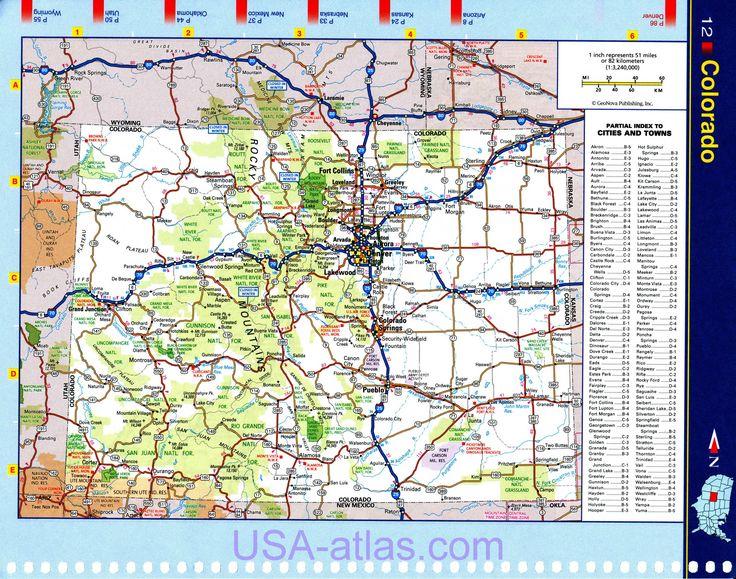 Melhores Ideias De Map Of Colorado No Pinterest Caminhadas - Mapa de colorado usa