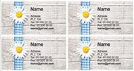 Kostenlose Vorlage für Adressetiketten, Ordneretiketten und CDetiketten zum Selbstbeschriften und Ausdrucken.