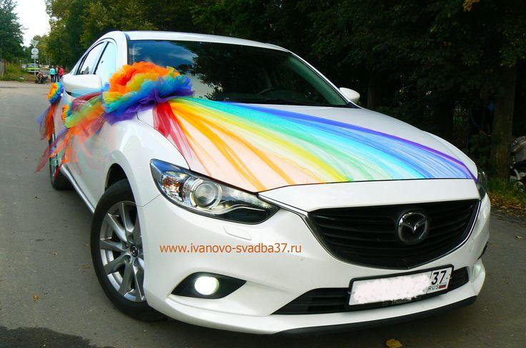 Mazda-6, белые, черные, красные авто. Прокат свадебных украшений. 89038890100