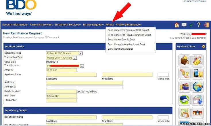 How to Transfer or Send Money to Philippines Through BDO