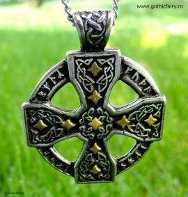 Poze Pandantiv viking Cruce celtică cu rune