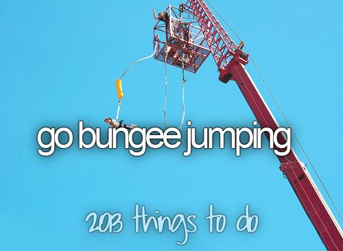Bungee Jumping | via Tumblr