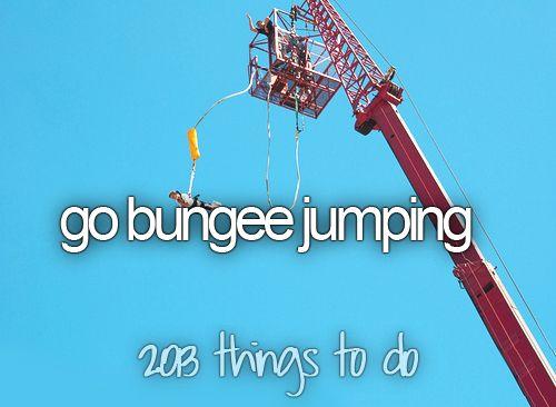 Bungee Jumping | via Tumblr
