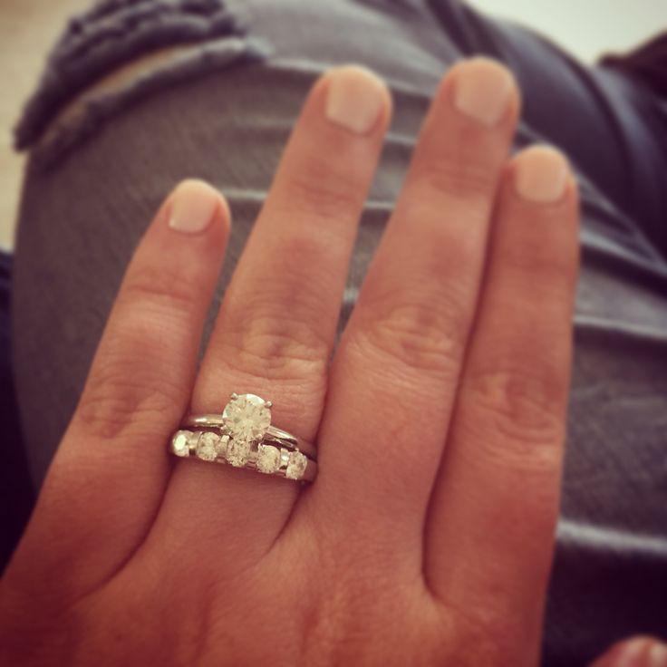 1 carat leo diamond solitaire with a 1 carat leo 5 stone diamond wedding band