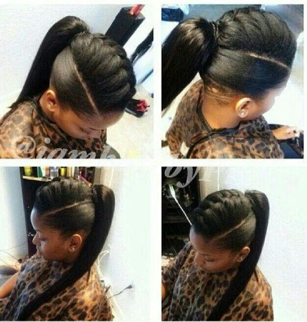 French Braided Faux Hawk Ponytail Gorgeous Dos Pinterest Hair