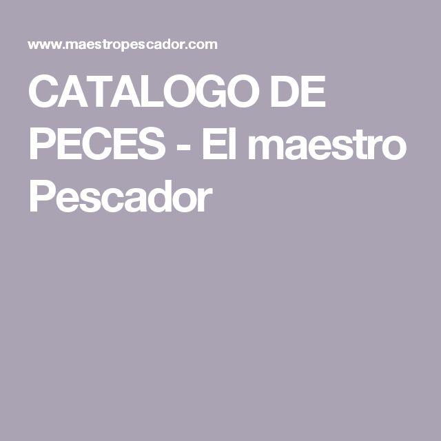 CATALOGO DE PECES - El maestro Pescador