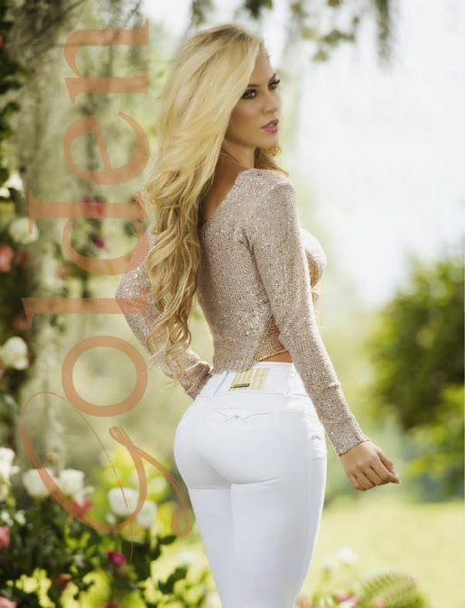 Tight White Pants Blonde 98
