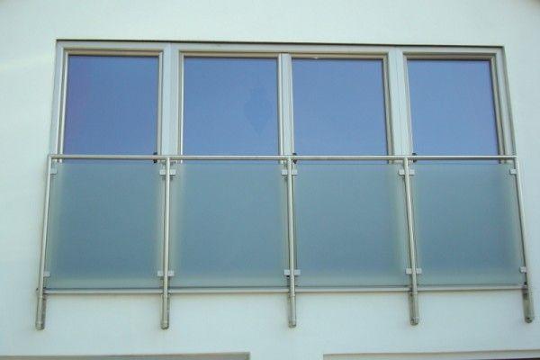 #Stainless steel aluminium external finish Juliet balcony doors