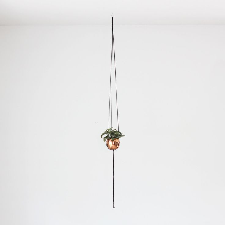 Small Vintage Copper Cup Hanging Planter / Modern by HRUSKAA, $55.00
