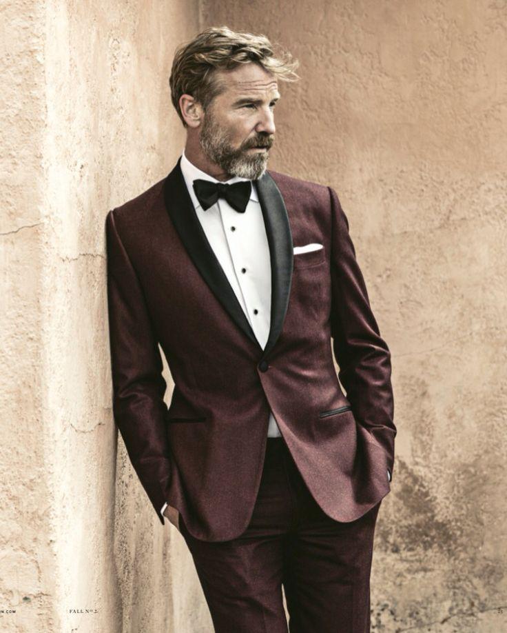 New trend, burgundy Tuxedo.