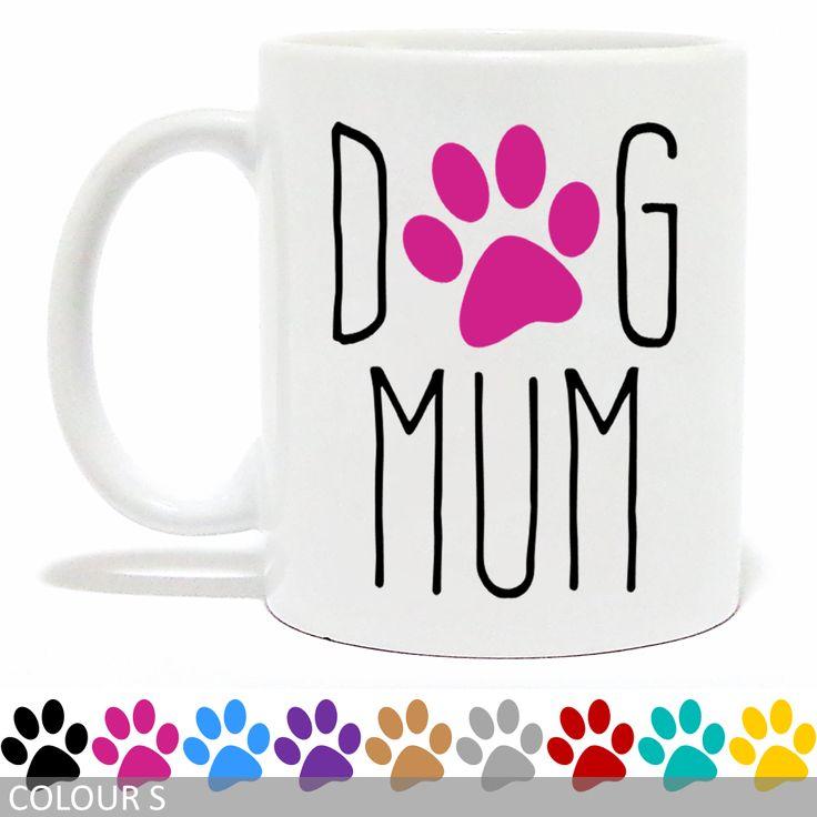 Dog Mum Mug - Paw Print