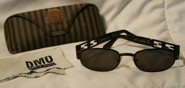 VINTAGE FENDI WOMENS SATIN EBONY MODEL FS 175 SUNGLASSES WITH CASE #FENDI #Designer