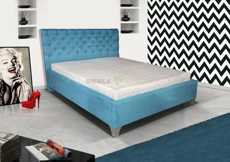 Łóżko do sypialni tapicerowane 8 z stelażem - BIK - sklep meblowy Meble BIK