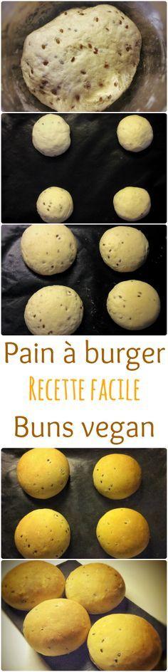 Recette de buns vegan, sans oeuf, sans lactose. Ces buns sont moelleux et faciles à faire ! Recette sur mon blog : http://www.veganfreestyle.com/pain-a-burger-buns-vegan/
