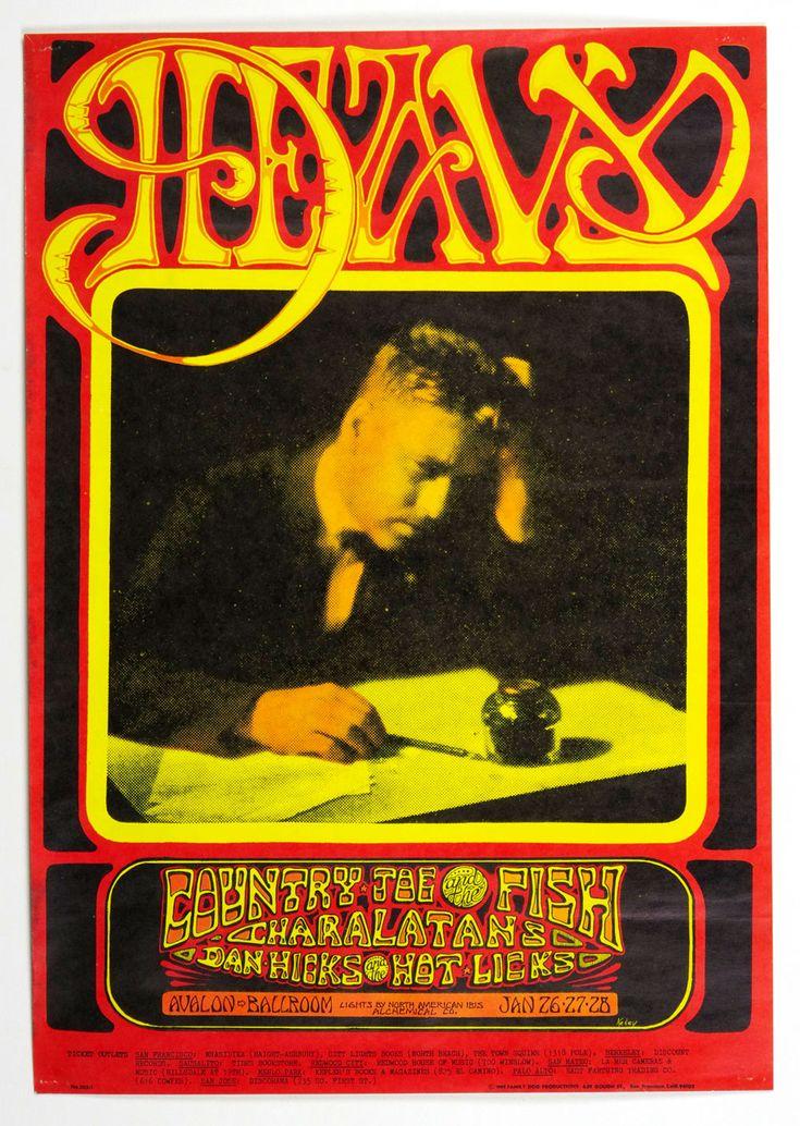Family Dog 103 Poster Country Joe and The Fish Charlatans 1968 Jan 26