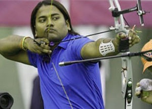 The Indian men's archery team was knocked out of the Olympic Games after losing to Japan in a tense pre-quarterfinal shoot-off at teh Lord's Cricket Ground.