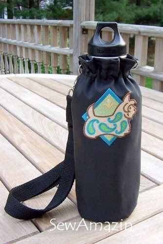 Paisley Terrier Insulated Water Bottle Carrier Holder adjustable strap | SewAmazin - Pets on ArtFire