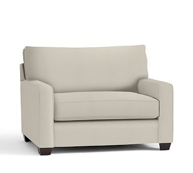 Buchanan Square Arm Upholstered Twin Sleeper Sofa, Polyester Wrapped Cushions, Washed Linen/Cotton Stone