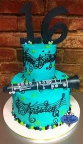 Image result for clarinet themed graduation cakes 2015