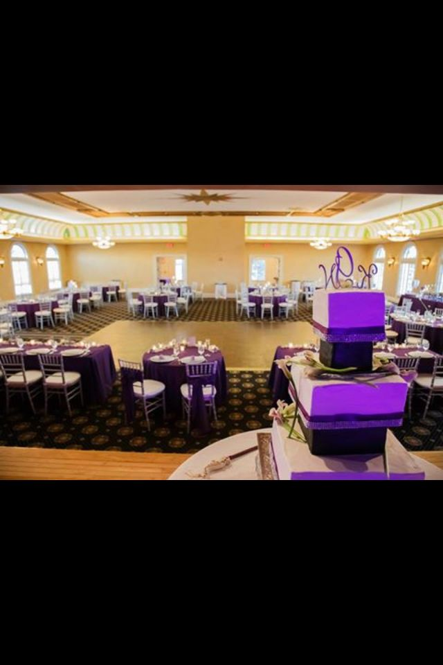 Purple And Gray Wedding Reception The Italian Club In Ybor City Tampa