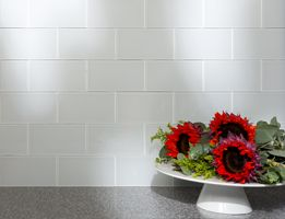 Peel And Stick Glass Backsplash Tiles 3 X 6 Tiles Aspect Frost
