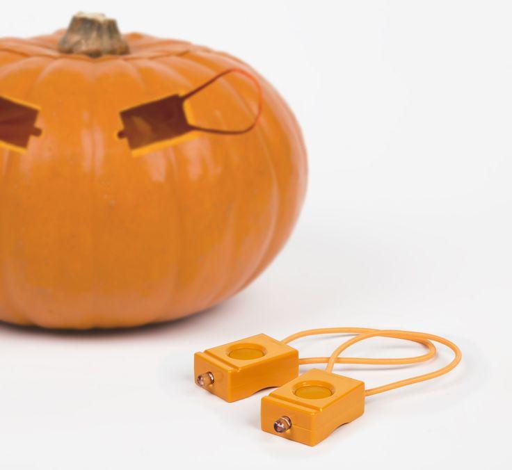 Pumpkin Orange bicycle lights, Halloween edition.