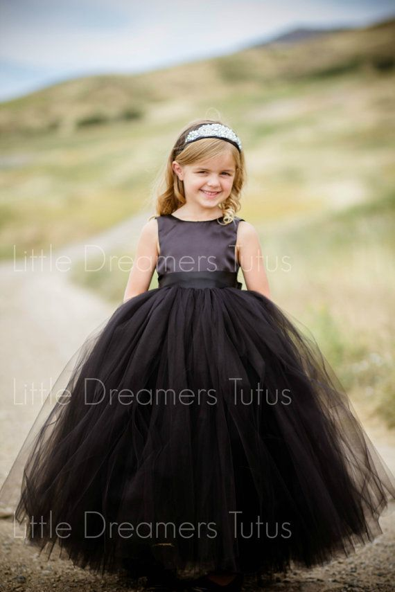Best 20  Black flower girl dresses ideas on Pinterest | Black ...