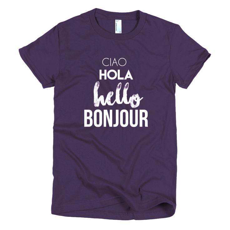 Hello women's t-shirt