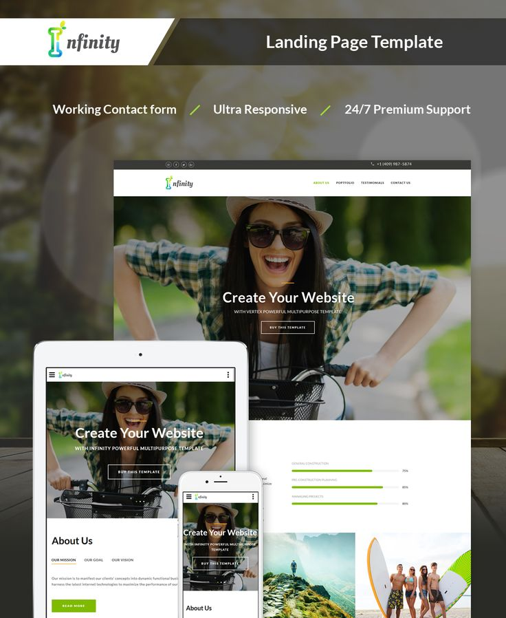 Personal Landing Page HTML5 Template