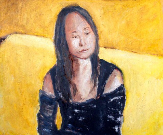 Miss Wang, oil on board, 30cm x 40cm