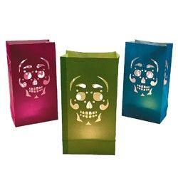 Day Of The Dead Luminary Bags, Day Of The Dead Party Supplies