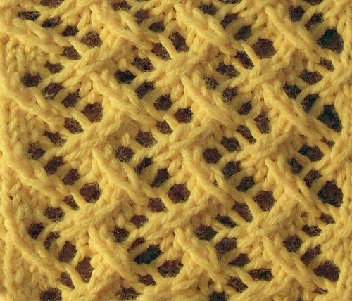 zigzag; lateral chevron ~~ Pattern: Vandyke Lace; Stitch Count Repeat: Multiple of 4 stitches; Book: B Walker, Charted Knitting Designs – A Third Treasury of Knitting Patterns; Page: 157