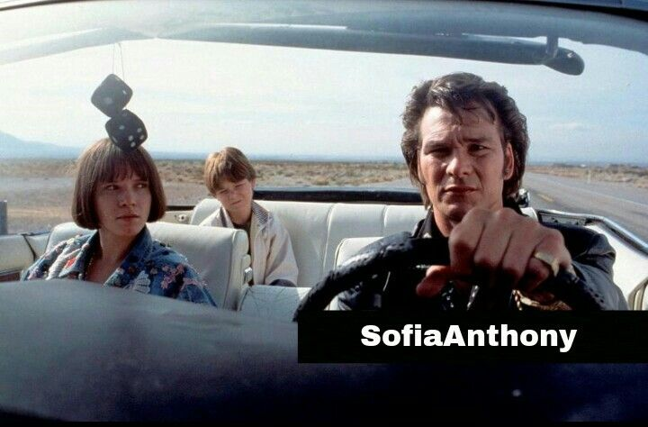 Sabrina Lloyd, Brian Bonsall and Patrick Swayze from the scene Father Hood