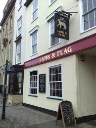 The Lamb and Flag.  Oxford, England.  Guinness Extra-Cold by night and coffee with Baileys by day.  They have so much of my money.