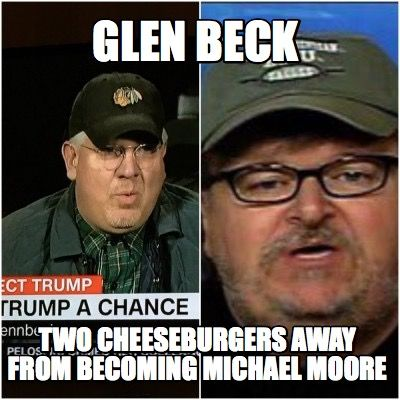 Glen Beck is dressing like famous Communists. First Saul Alinsky, Leon Trotsky and Now Michael Moore. Has Glen joined the left after failing to expose George Soros on Fox News?