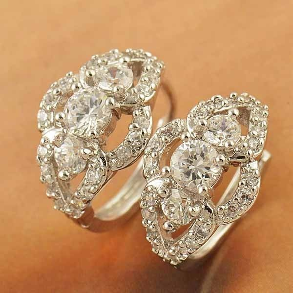 9K white gold-filled CZ bling hoop earrings, 17mm x 10mm @ AUD$12.00 + postage or local pick up available (2 in stock)