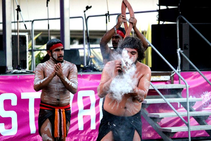 Opening Weekend Celebrations at Brisbane Festival 2013 - Welcome to Country conducted by a traditional custodian and representative of the Yuggera People