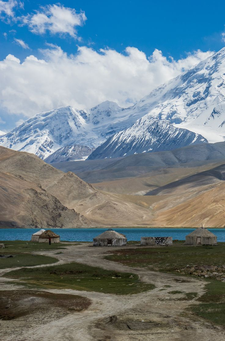 A yurt stay at Karakol Lake in Western China. We hiked around this area for 3 days and explored the Glacier. Definitely a place not to miss of your list of places to visit in China if you are up for an adventure. Hiking along the Karakoram Highway was a highlight for us. Go hiking in China.
