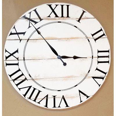 "BrandtWorksLLC Oversized Tradition Wall Clock Size: 18"" H x 18"" W"