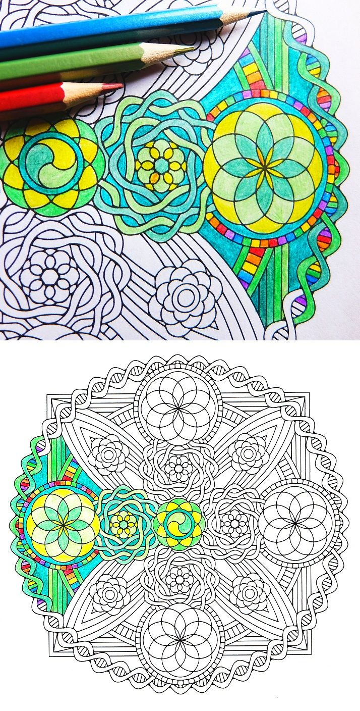 Life Vajra – sacred geometry coloring page   CandyHippie Coloring ...