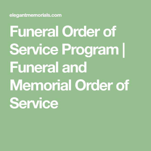 Funeral Order of Service Program | Funeral and Memorial Order of Service