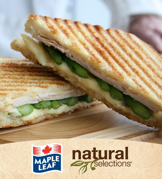 Turkey, Brie and Asparagus Panini #NaturalSelections @Maple Leaf®