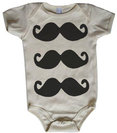 mustache onesie!