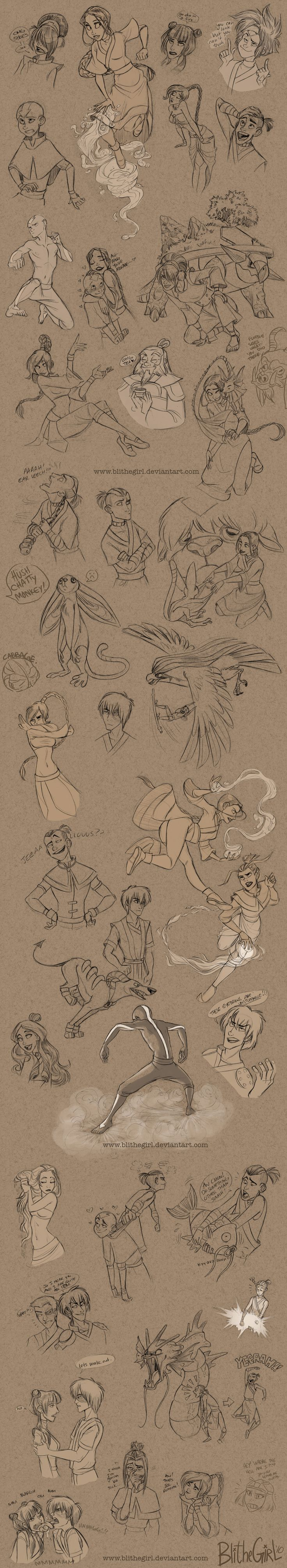 Avatard Dump by ~Blithegirl on deviantART ✤ || CHARACTER DESIGN REFERENCES | Sketches and Drawings