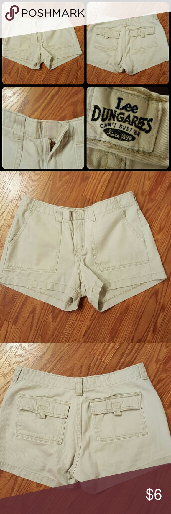 Lee Dungarees Shorts This is a pair of super comfy Lee Dungaree Shorts with Velcro Closure. Size 11 Lee Shorts Cargos