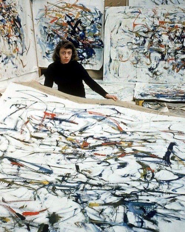 Джоан Митчелл в студии. Joan Mitchell in the studio. #JoanMitchell #juliadavidian