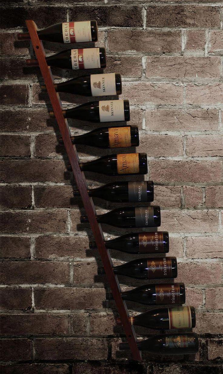 Alluring horizontal wine rack ideas features slanted