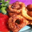 Best Ever Baked Onion Rings - I usually leave out the Italian seasoning