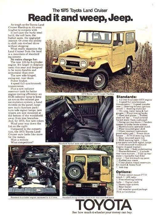 FJ40 Land Cruiser Ad