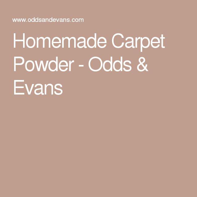Homemade Carpet Powder - Odds & Evans